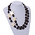 2 Strand Layered Black Acrylic Bead with Starfish Motif - 60cm L/ 5cm Ext - view 2