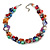 Exquisite Faux Pearl & Shell Composite Silver Tone Link Necklace In Multicoloured - 40cm L/ 5cm Ext - view 2