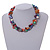 Exquisite Faux Pearl & Shell Composite Silver Tone Link Necklace In Multicoloured - 40cm L/ 5cm Ext - view 3