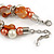 Exquisite Faux Pearl & Shell Composite Silver Tone Link Necklace In Peach Orange/ White - 40cm L/ 5cm Ext - view 7
