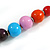 Multicoloured Graduated Wooden Bead Necklace - 70cm Long - view 5