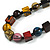 Multicoloured Cube and Ball Wood Bead Necklace - 76cm Long - view 4