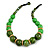 Chunky Colour Fusion Wood Bead Necklace (Green) - 48cm L