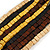 Multi-Strand Black/ Yellow/ Natural/ Brown Wood Bead Adjustable Cord Necklace - 66cm L - view 4