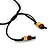 Multi-Strand Black/ Yellow/ Natural/ Brown Wood Bead Adjustable Cord Necklace - 66cm L - view 6