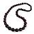 Deep Purple Graduated Wooden Bead Necklace - 70cm Long