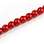 Red Glass Bead with Silver Tone Metal Wire Element Necklace - 70cm L/ 5cm Ext - view 6