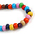Multicoloured Cluster Wood Bead Necklace - 60cm Long - view 7
