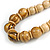 Chunky Colour Fusion Wood Bead Necklace (Golden, Black, Natural) - 48cm L - view 4