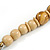 Chunky Colour Fusion Wood Bead Necklace (Golden, Black, Natural) - 48cm L - view 6