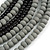 Multistrand Layered Bib Style Wood Bead Necklace In Black/ Grey - 40cm Shortest/ 70cm Longest Strand - view 4