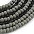 Multistrand Layered Bib Style Wood Bead Necklace In Black/ Grey - 40cm Shortest/ 70cm Longest Strand - view 5