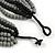 Multistrand Layered Bib Style Wood Bead Necklace In Black/ Grey - 40cm Shortest/ 70cm Longest Strand - view 6
