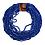 Statement Multistrand Cobalt Blue Glass Bead Necklace with Wood Closure - 60cm Long - view 3