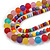 Chunky 3 Strand Layered Resin Bead Cord Necklace In Multi - 60cm up to 70cm Adjustable - view 4