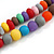 Chunky 3 Strand Layered Resin Bead Cord Necklace In Multi - 60cm up to 70cm Adjustable - view 6