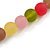 Chunky 3 Strand Layered Resin Bead Cord Necklace In Multi - 60cm up to 70cm Adjustable - view 8