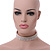 Statement 6 Row Clear Crystal Wide Choker Necklace In Rhodium Plated Metal - 30cm L/ 18cm Ext - view 7