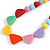 Pastel Multicoloured Resin Bead Geometric Cotton Cord Necklace - 44cm L - Adjustable up to 50cm L - view 3