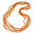 Multistrand Orange Glass Bead Necklace - 70cm Long