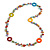 Long Multicoloured Pearl, Shell and Resin Ring with Silver Tone Chain Necklace - 104cm Long - view 3