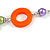 Long Multicoloured Pearl, Shell and Resin Ring with Silver Tone Chain Necklace - 104cm Long - view 5