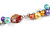 Long Multicoloured Pearl, Shell and Resin Ring with Silver Tone Chain Necklace - 104cm Long - view 6