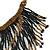 Statement Glass Bead Bib Style/ Fringe Necklace In Black/ Bronze - 40cm Long/ 17cm Front Drop - view 5