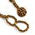 Statement Glass Bead Bib Style/ Fringe Necklace In Black/ Bronze - 40cm Long/ 17cm Front Drop - view 7