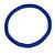 Statement Chunky Blue Beaded Stretch Choker Necklace - 44cm L