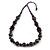 Deep Purple  Wood Bead Cotton Cord Necklace - 80cm Max Length - Adjustable
