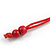 Red/ Black Wood Bead Cotton Cord Necklace - 80cm Max Length - Adjustable - view 6