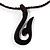 Chocolate Braided Cord Wood Hook Pendant