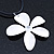 White Enamel 'Daisy' Pendant With Waxed Cotton Cord In Silver Tone - 38cm Length/ 7cm Extension - view 10
