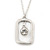 Matte Silver Square Pendant With Long Chain Necklace - 70cm Length/ 7cm Extension
