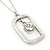Matte Silver Square Pendant With Long Chain Necklace - 70cm Length/ 7cm Extension - view 3