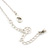 Matte Silver Square Pendant With Long Chain Necklace - 70cm Length/ 7cm Extension - view 4