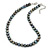10mm Grey Oval Freshwater Pearl Necklace In Silver Tone - 41cm L/ 6cm Ext