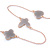Long Light Grey Enamel Heart, Flower, Butterfly Necklace In Gold Plating - 154cm L - view 3