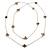 Long Light Grey Enamel Heart, Flower, Butterfly Necklace In Gold Plating - 154cm L - view 5