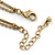 Vintage Inspired Square Tassel Pendant with Double Chain Necklace In Antitque Gold Tone - 68cm L/ 6cm Ext - view 4