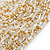 Chunky Gold/ White/ Transparent Glass Bead Bib Necklace - 64cm L - view 3