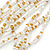 Chunky Gold/ White/ Transparent Glass Bead Bib Necklace - 64cm L - view 5