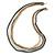 Long Multistrand Chain Necklace (Gold/ Gun/ Silver Tone) - 96cm L