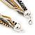 Long Multistrand Chain Necklace (Gold/ Gun/ Silver Tone) - 96cm L - view 4
