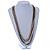 Long Multistrand Chain Necklace (Gold/ Gun/ Silver Tone) - 96cm L - view 2