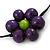 Long Multicoloured Wooden Flower Black Cotton Cord Necklace - 74cm L - view 6