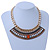 Tribal Jewelled Chain Collar Necklace In Gold Tone - 40cm L/ 5cm Ext - view 2