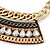 Tribal Jewelled Chain Collar Necklace In Gold Tone - 40cm L/ 5cm Ext - view 3