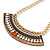 Tribal Jewelled Chain Collar Necklace In Gold Tone - 40cm L/ 5cm Ext - view 7